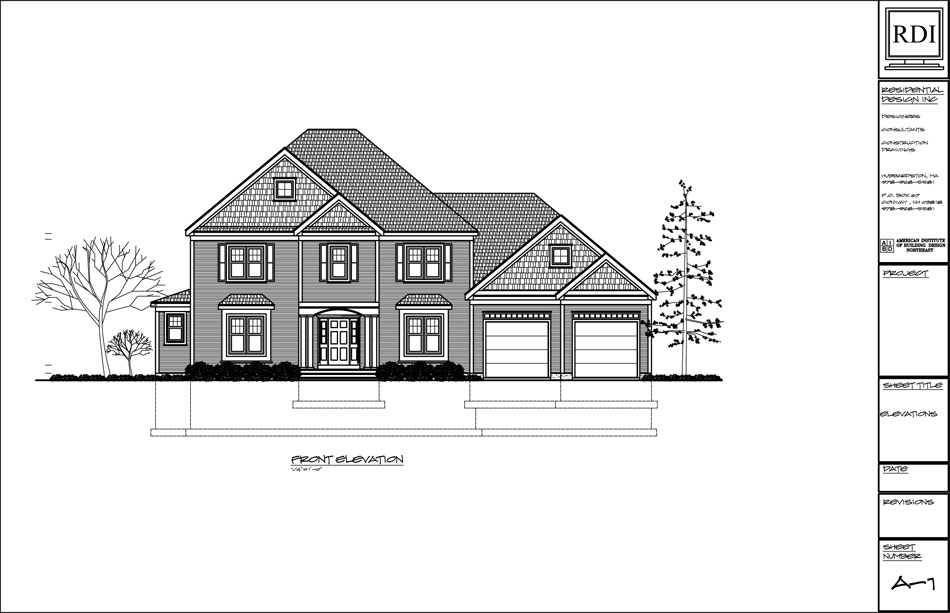 Residential Architecture Elevations : Elevations residential design inc