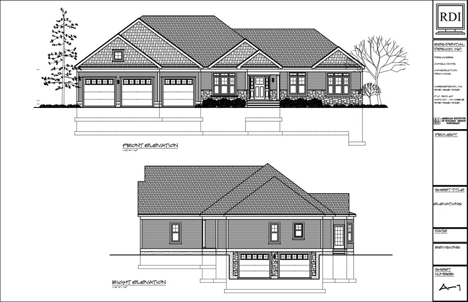 Elevations residential design inc for Residential house plans and elevations