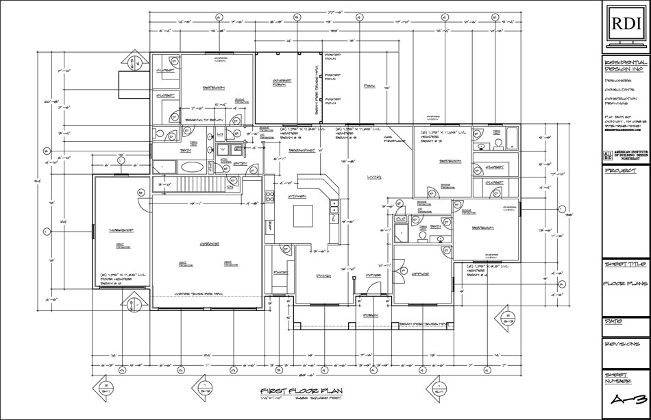 Floor plans drawings residential design inc for Residential building floor plan