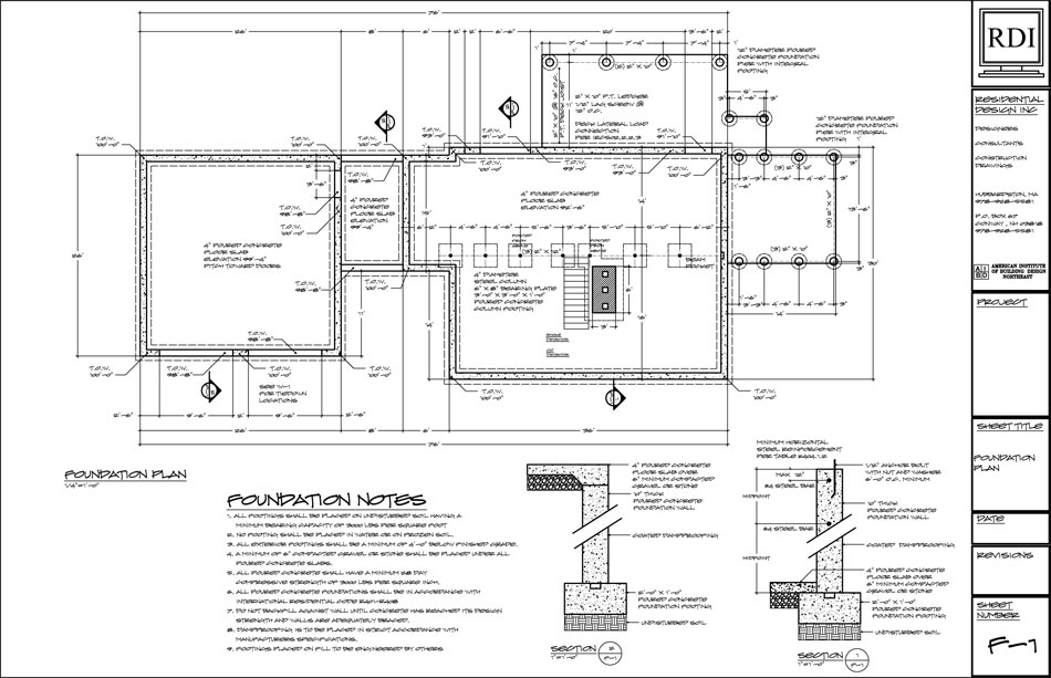 Foundation Plans Residential Design Inc
